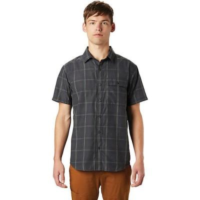 マウンテンハードウェア シャツ メンズ トップス Mountain Hardwear Men's Greenstone SS Shirt Dark Storm