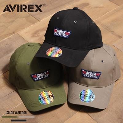 """""""AVIREX【アビレックス】TPパッチローキャップ/全3色"""" 帽子 メンズ レディース ユニセックス 黒 ブラック カーキ ベージュ TP PATCH LOW CAP"""