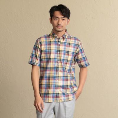 ゲッツナー社生地使用マドラスチェックシャツ