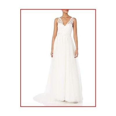【新品】Jenny Yoo Women's Isla Lace and Tulle Wedding Gown, Ivory/Ivory, 6【並行輸入品】