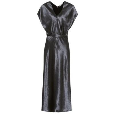 ヴィンス Vince レディース ワンピース ワンピース・ドレス hammered-satin dress Casa Blue