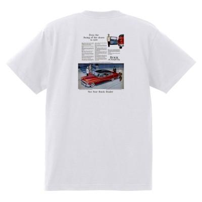 アドバタイジング ビュイック 296 白 Tシャツ 黒地へ変更可能  1954 スーパー リビエラ センチュリー ロードマスター オールディーズ