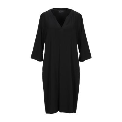 EUROPEAN CULTURE ミニワンピース&ドレス ブラック S レーヨン 96% / ゴム 4% ミニワンピース&ドレス