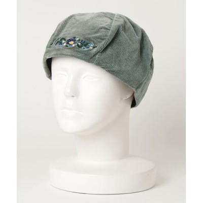 1 to 10 people / 【W】【JABURO】CORDUROY DAMAGE BERE WOMEN 帽子 > ハンチング/ベレー帽