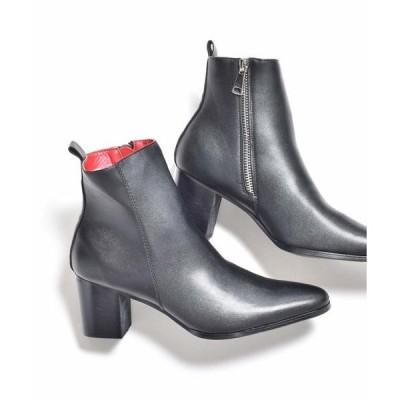 ブーツ メタルジップ ヒールブーツ / ドレスブーツ endevice / エンデヴァイス