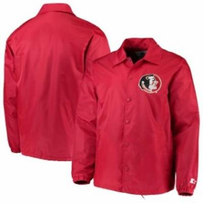 Starter スターター スポーツ用品  Starter Florida State Seminoles Garnet The General Coachs Full-Snap Jacket