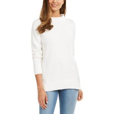 ケレンスコット レディース ニット・セーター アウター Rolled Mock-Neck Cotton Sweater, Created For Macy's