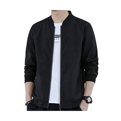 ODFMCE ジャケット ma1 メンズ 秋冬 ブルゾン コート カジュアル おしゃれ 大きいサイズ (ブラック(裏起毛), XL)