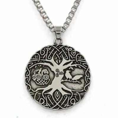 ネックレス ttkp Norse Vikings Knot AmuletネックレスSoldiers Raven Tree of LifeペンダントネックレスNordic Talisman