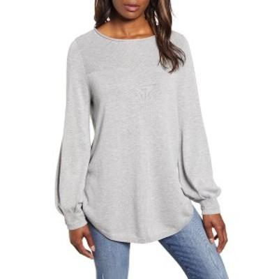 カスロン レディース ニット&セーター アウター Bishop Sleeve Sweater GREY HEATHER