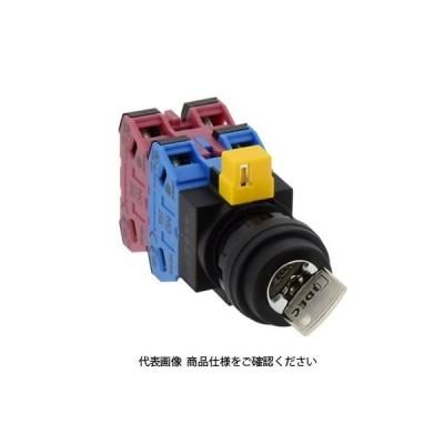 IDEC(アイデック) φ22 HWシリーズ鍵操作形セレクタスイッチ 3ノッチ HW1K-3B22N1 1個(直送品)