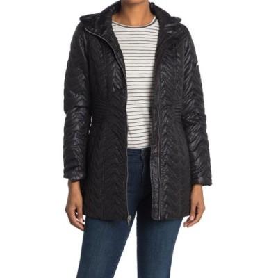 ヴィアスピガ レディース ジャケット&ブルゾン アウター Zigzag Detachable Hooded Puffer Jacket (Petite) BLACK
