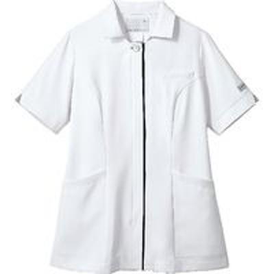 住商モンブラン住商モンブラン ナースジャケット 半袖 ホワイト×ネイビーPP303-19_7L(直送品)
