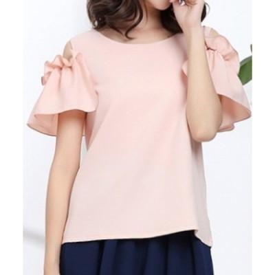 tシャツ Tシャツ 半袖オープンショルダーカットソー