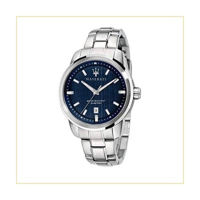 MASERATI Men's SUCCESSO Quartz Stainless-Steel Strap, Silver, 20 Casual Watch (Model: R8853121004) 並行輸入品