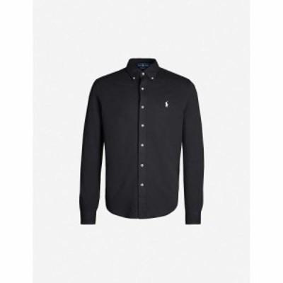 ラルフ ローレン POLO RALPH LAUREN メンズ シャツ トップス Slim-fit embroidered cotton-mesh shirt POLO BLACK