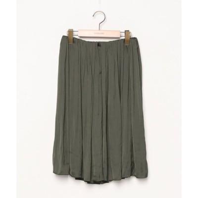 スカート 無地フレアスカート