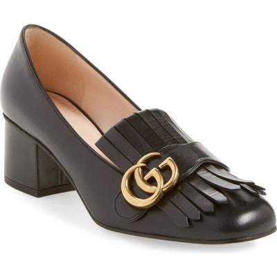 グッチ GUCCI レディース ローファー・オックスフォード シューズ・靴 GG Kiltie Fringe Pump Black Leather