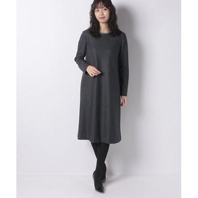 <Leilian(Women)/レリアン> Iラインワンピース グレー【三越伊勢丹/公式】