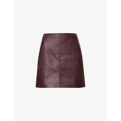 テッドベーカー TED BAKER レディース ミニスカート スカート Valiat leather skirt WINE