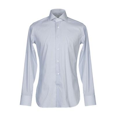 GUGLIELMINOTTI シャツ ライトグレー 38 コットン 70% / ナイロン 27% / ポリウレタン 3% シャツ