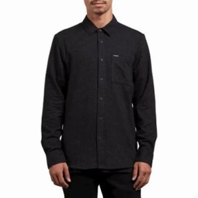 ボルコム シャツ Caden Solid L/S Flannel Black