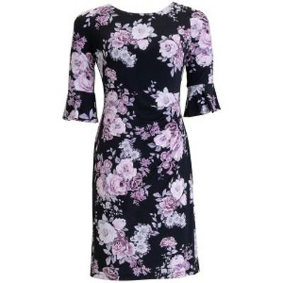 コネクテッド レディース ワンピース トップス Floral-Print Sheath Dress Dusty Rose