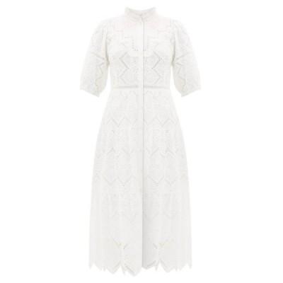 シー Sea レディース ワンピース ワンピース・ドレス Zippy broderie-anglaise cotton dress Ivory