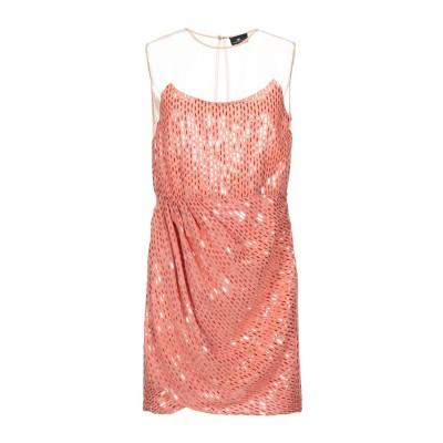 ELISABETTA FRANCHI ミニワンピース&ドレス サーモンピンク 40 ポリエステル 100% ミニワンピース&ドレス
