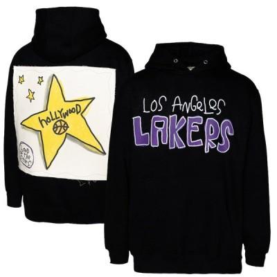 """メンズ Tシャツ """"Los Angeles Lakers"""" After School Special Applique Pullover Hoodie - Black"""