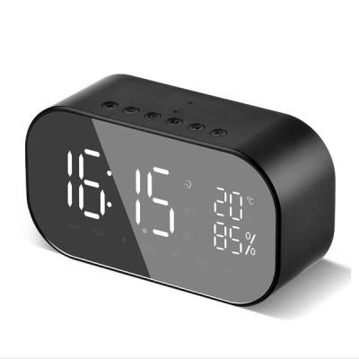 デジタル時計 置き時計 LED Bluetooth スピーカー アラーム時計 目覚まし時計 大音量 小型 大音量 鏡