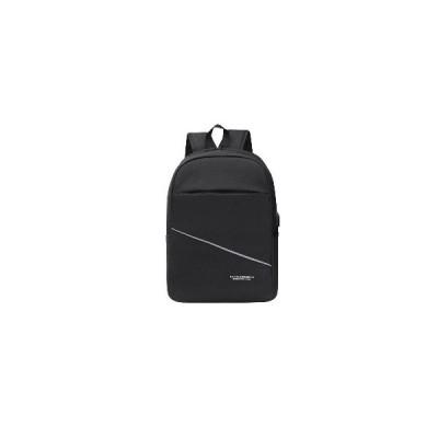(グレー)20L USB充電バックパック大容量屋外防水男性女性ビジネスラップトップバッグ