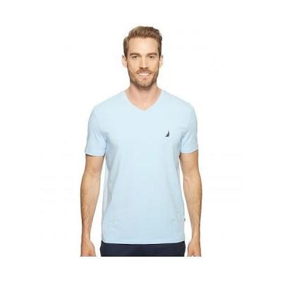 Nautica ナウチカ メンズ 男性用 ファッション Tシャツ Slim Fit V-Neck T-Shirt - Noon Blue