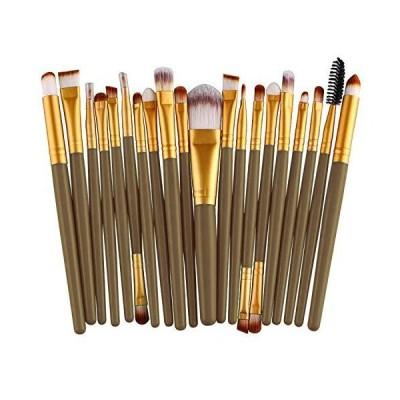 メイクブラシ NICEMOVIC 20 Pcs Makeup Brush Set, Powder Foundation Eyeshadow Eyeliner Lip Cosmetic Brushes Make-up Toiletry Kit it(Grey