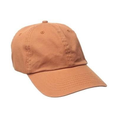 Dorfman Pacific Co。メンズWashed Twill Cap with precurveつば カラー オレンジ
