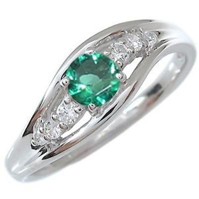 指輪・5月誕生石・一粒・エメラルド・リング・10金