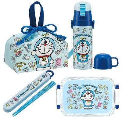 送料無料 ドラえもん I'm Doraemon 抗菌 角型お弁当箱 450ml 箸&箸箱 巾着 水筒 お買得4点セット