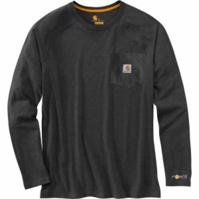 カーハート Carhartt メンズ 長袖Tシャツ トップス Force Cotton Delmont Long - Sleeve T - Shirt Carbon Heather