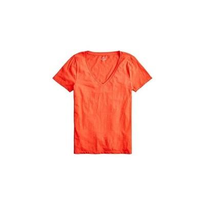 J.Crew Vintage Cotton V-Neck T-Shirt レディース シャツ トップス Brilliant Sunset