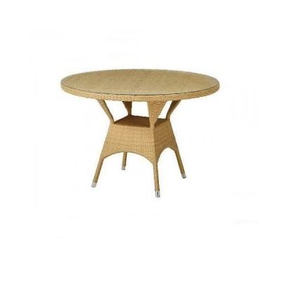今枝商店/籐 ラタン家具/ガーデンテーブル ダイニングテーブル 円形/テーブル 人工ラタン製 単品/T880 T-880