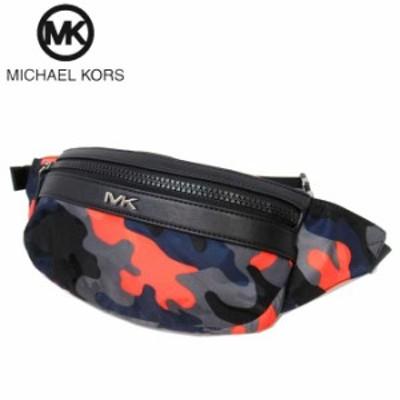 マイケルコース アウトレット Michael Kors ショルダーバッグ 37S0MKNC2R ナイロン×レザー ケント ベルトバッグ ボディバッグ KENT / BE