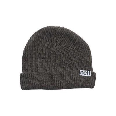 ネフ ヘッドウェア 帽子 ハット ビーニー ニット帽 Neff 帽子 キャップ ハット - Neff ビーニー - Fold - チャコール ワンサイズ