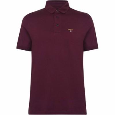 バブアー Barbour メンズ ポロシャツ トップス Saltire Jersey Polo Merlot RE