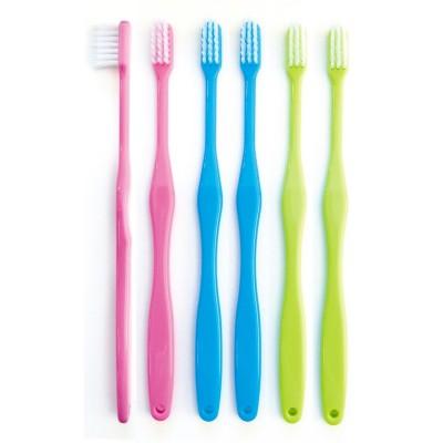 磨きやすい歯ブラシ12本組 奥歯まで届きやすいコンパクト