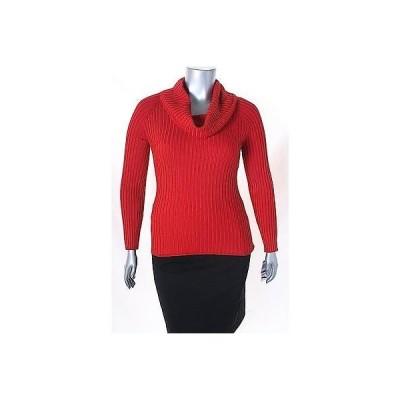 インク セーター ニット INC レッド 長袖 Ribbed Cowl Neck セーター サイズ XL 49 LAFO