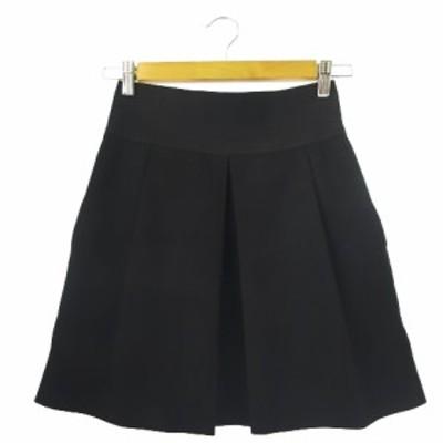 【中古】ザラウーマン ZARA WOMAN スカート フレア ミニ ウエストゴム S 黒 ブラック /CK23 ☆ レディース