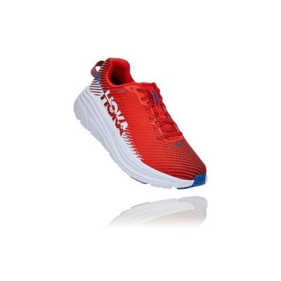 ホカオネオネ(HOKAONEONE) ランニングシューズ メンズ リンコン RINCON2 1110514-FTHS 赤 ジョギングシューズ マラソン (メンズ)