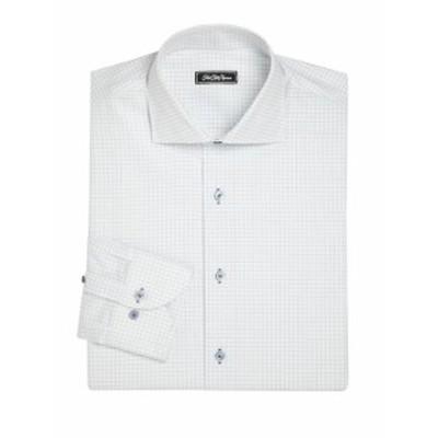 サックスフィフスアベニュー メンズ ドレスシャツ ワイシャツ COLLECTION Regular-Fit Graph Paper Dress Sh
