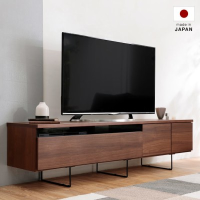 [幅180] 日本製 ローテレビ台 50V型対応 完成品 木製