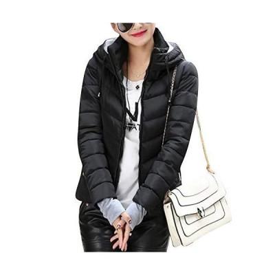 ASHERANGEL レディースコート ダウンジャケット ダウンコート ジャケット フード付き 長袖 ショート丈 厚手 中綿 防寒 防風 暖